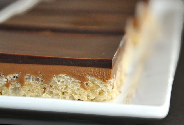Peanut Butter Chocolate Crispy Bars | Making Life Delicious | Livin ...