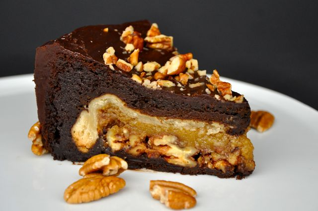 New Year Chocolate Cake Images : New Year, New Dessert: Chocolate Pecan PieCake Goes to 11 ...