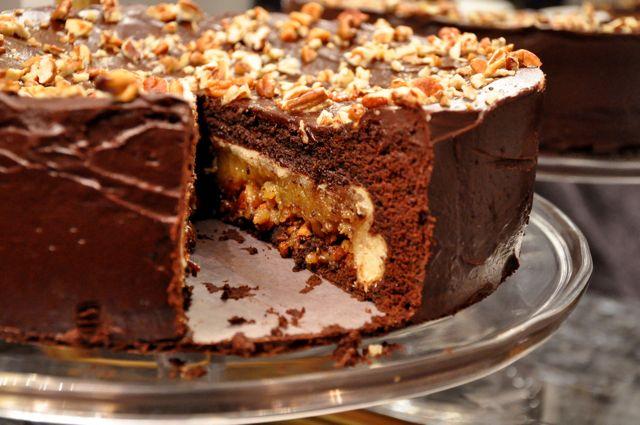 New Year Dessert Chocolate Pecan PieCake Goes To 11