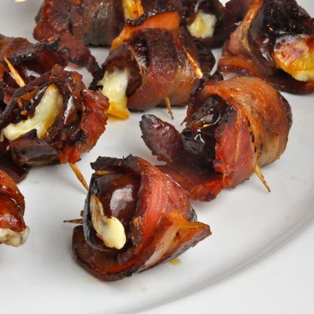 Manchego Stuffed Maple Glazed Bacon Wrapped Dates Livin