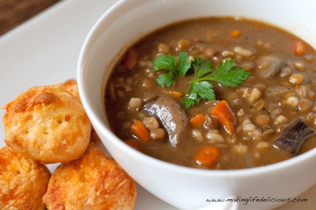 Barley, Lentil & Mushroom Soup | Making Life Delicious | Livin' The ...