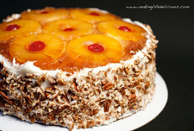 Layered pineapple filled cake recipe